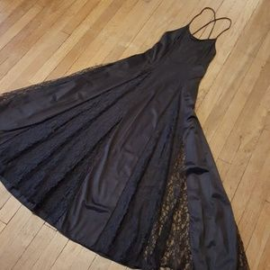 Black Lace Lingerie Nightgown